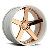 5 LUG ICON WHITE WITH COPPER FACE