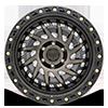 6 LUG SHREDDER MATTE BLACK W/ MACHINED DARK TINT