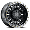 Abrams Gun Black w/ Machined Dark Tint Lip 8 lug