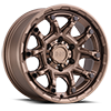 6 LUG ARK BRONZE WITH GLOSS BLACK BOLTS