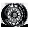 Centurion Gloss Black w/ Milled Spokes 8 lug
