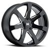 Mozambique Gloss Black with Milled Spoke 5 lug