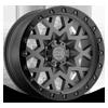 Sprocket Gunmetal with Black Lip 6 lug