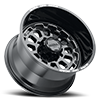 8 LUG 111 XTREME GLOSS BLACK WITH MILLED ACCENTS, MILLED LETTERS AND CLEAR-COAT