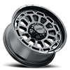 6 LUG 111 XTREME GLOSS BLACK WITH MILLED ACCENTS, MILLED LETTERS AND CLEAR-COAT