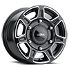 6 LUG 450 SUPER SINGLE GLOSS BLACK MILLED