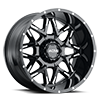 254 Carnivore Gloss Black with Milled Accents and Clear-Coat - CC 6 lug