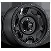 106 Sawblade Xtreme Satin Black with Satin Black X-Lok Lip 5 lug