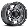106 Sawblade Xtreme Satin Anthracite Grey with Satin Black X-Lok Lip 6 lug