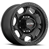 106 Sawblade Xtreme Satin Black with Satin Black X-Lok Lip 8 lug