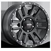 107 Xtreme Satin Black with Satin Black X-Lok Lip 5 lug