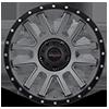 5 LUG 107 XTREME SATIN GRAPHITE WITH SATIN BLACK X-LOK LIP