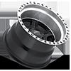 6 LUG 176 VAGABOND GLOSS BLACK WITH DIAMOND CUT LIP AND CLEAR COAT - 15X10