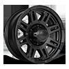226 Machine Trailer Satin Black with Satin Clear-Coat 6 lug