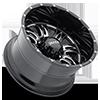 8 LUG 249 PREDATOR II GLOSS BLACK WITH MILLING AND CLEAR COAT - 20X12