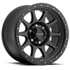 504 Legacy Satin Black with Satin Black X-Lok Lip 6 lug