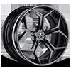VCX Standard Matte Black 6 lug