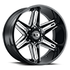 363 Razor Gloss Black Milled Spokes 8 lug