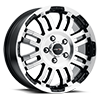 375 Warrior - UTILITY VAN FITMENT Gloss Black Machined Face 5 lug