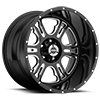 397 Rage Gloss Black with Milled Spokes - 20x12 5 lug