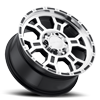 6 LUG 372 RAPTOR GLOSS BLACK MIRROR MACHINED FACE