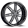 VKi Black with Chrome Lip 6 lug