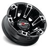 8 LUG 803 BEAST DUALLY GLOSS BLACK WITH MILLED ACCENTS