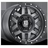 6 LUG XD128 MACHETE MATTE GRAY W/ BLACK RING