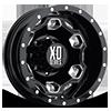 XD815 Battalion Gloss Black Milled 8 lug