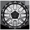 5 LUG XD820 GRENADE SATIN BLACK W/ MACHINED FACE