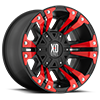 XD822 Monster II Satin Black with Red Inserts 6 lug