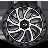 6 LUG XD826 SURGE GLOSS BLACK W/ MACHINED FACE